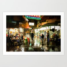 Hong Kong Cafe Yellow Art Print