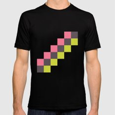 Stairs of Squares Mens Fitted Tee Black SMALL