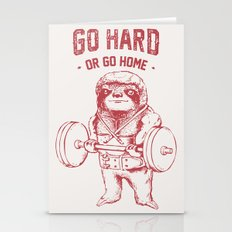 Go Hard or Go Home Sloth Stationery Cards