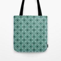Watercolor Green Tile 3 Tote Bag