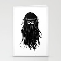 girl Stationery Cards featuring It Girl by Ruben Ireland