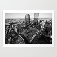 Fort Worth In Black And … Art Print