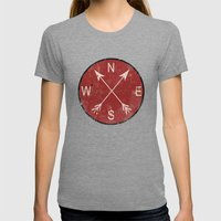 Compass Womens Fitted Tee Tri-Grey SMALL