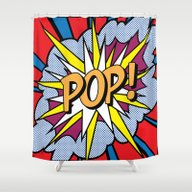 POP Art Exclamation Shower Curtain