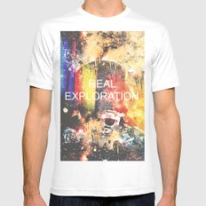 Real Exploration Mens Fitted Tee SMALL White