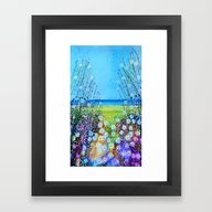 A Glimpse Of The Sea Framed Art Print