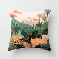 Creature Jungle Throw Pillow