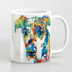 Colorful Great Dane Art Dog By Sharon Cummings Mug