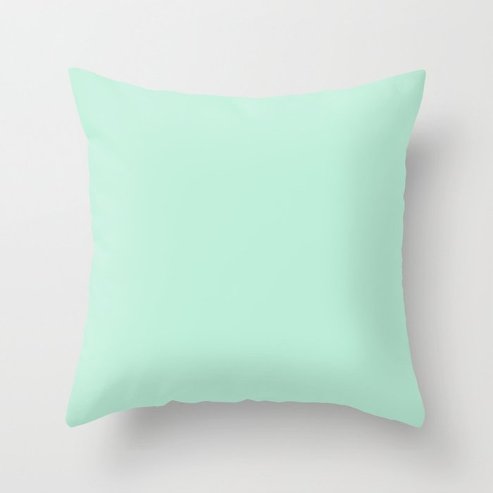 Mint Green Throw Pillow by Beautiful Homes Society6
