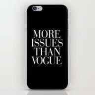 iPhone & iPod Skin featuring More Issues Than Vogue T… by RexLambo