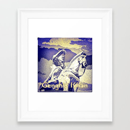 Spirit of the Great Gobi Desert - Genghis Khan Framed Art Print