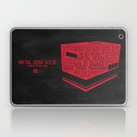 Metal Gear Solid Typogra… Laptop & iPad Skin