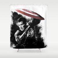 Steve Rogers: Shadow Edi… Shower Curtain