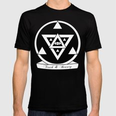 Truth and Beauty Mens Fitted Tee SMALL Black