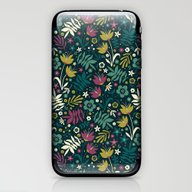 Midnight Florals (pop) iPhone & iPod Skin