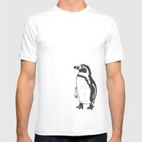 Humboldt Penguin Mens Fitted Tee White SMALL