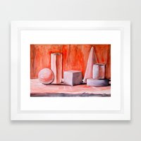 Simple Forms Framed Art Print
