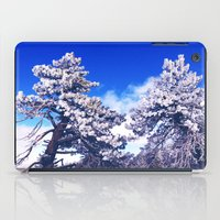 Snow covered trees iPad Case