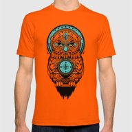 Guardian Of The Lost Mens Fitted Tee Orange SMALL