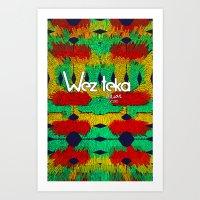 Colider Wezteka Union Art Print