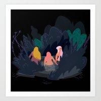 Night Pond Art Print