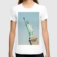 Statue of Liberty Womens Fitted Tee White SMALL
