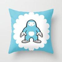 blue gigant Throw Pillow