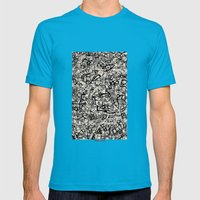- Newspaper - Mens Fitted Tee Teal SMALL