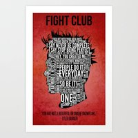 Typography Tyler Durden … Art Print