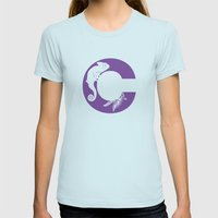 C is for Chameleon - Animal Alphabet Series Womens Fitted Tee Light Blue SMALL