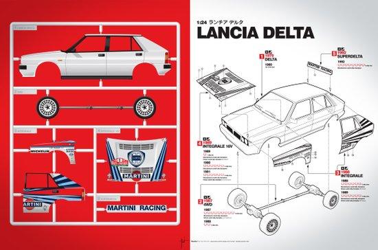 Lancia Delta History Model Kit in the WRC Art Print