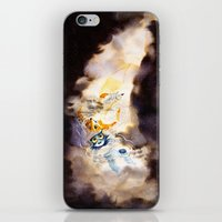 Little Owl Boy and the Milky Way iPhone & iPod Skin