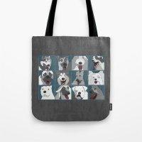 Dogs horizontal Tote Bag