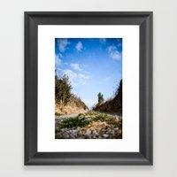 To the lake. Framed Art Print