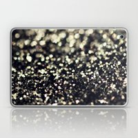 Black and Silver Glitter Laptop & iPad Skin