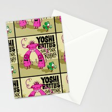 Yoshi Battles The Pink Robots Stationery Cards