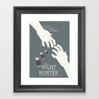 The Night Of The Hunter … Framed Art Print