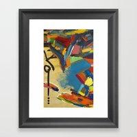 Trouble Detail Framed Art Print