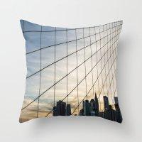 Brooklyn Web Throw Pillow