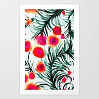 Olivia Flower Art Print