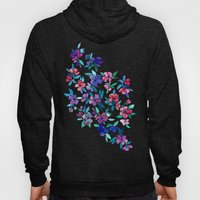 Southern Summer Floral - navy + colors Hoody