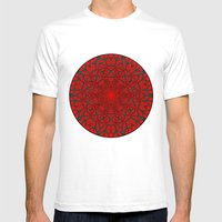 Crimson Web Mens Fitted Tee White SMALL