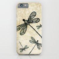 Dragonflies On Tan Textu… iPhone 6 Slim Case