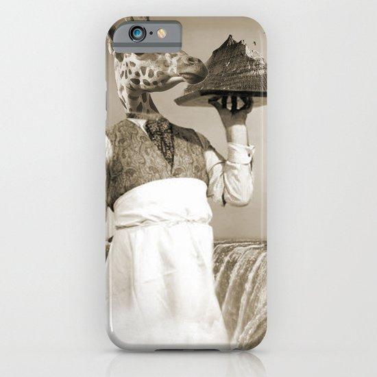 giraffe waiter  iPhone & iPod Case