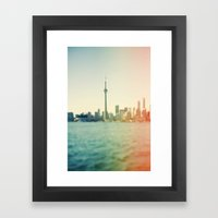 Shades Of The City Framed Art Print