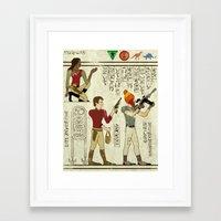 Hero-glyphics: Browncoat… Framed Art Print