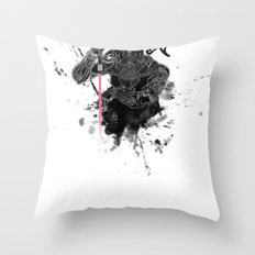 Darth in Dark Throw Pillow