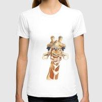 giraffe T-shirts featuring Giraffe  by Tussock Studio