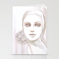 Fade Fashion Illustratio… Stationery Cards
