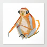 Canvas Print featuring Charlie Monkey by Darrah Gooden